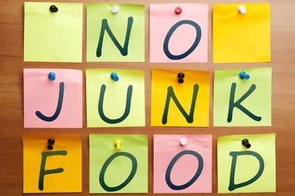 no junk food postits