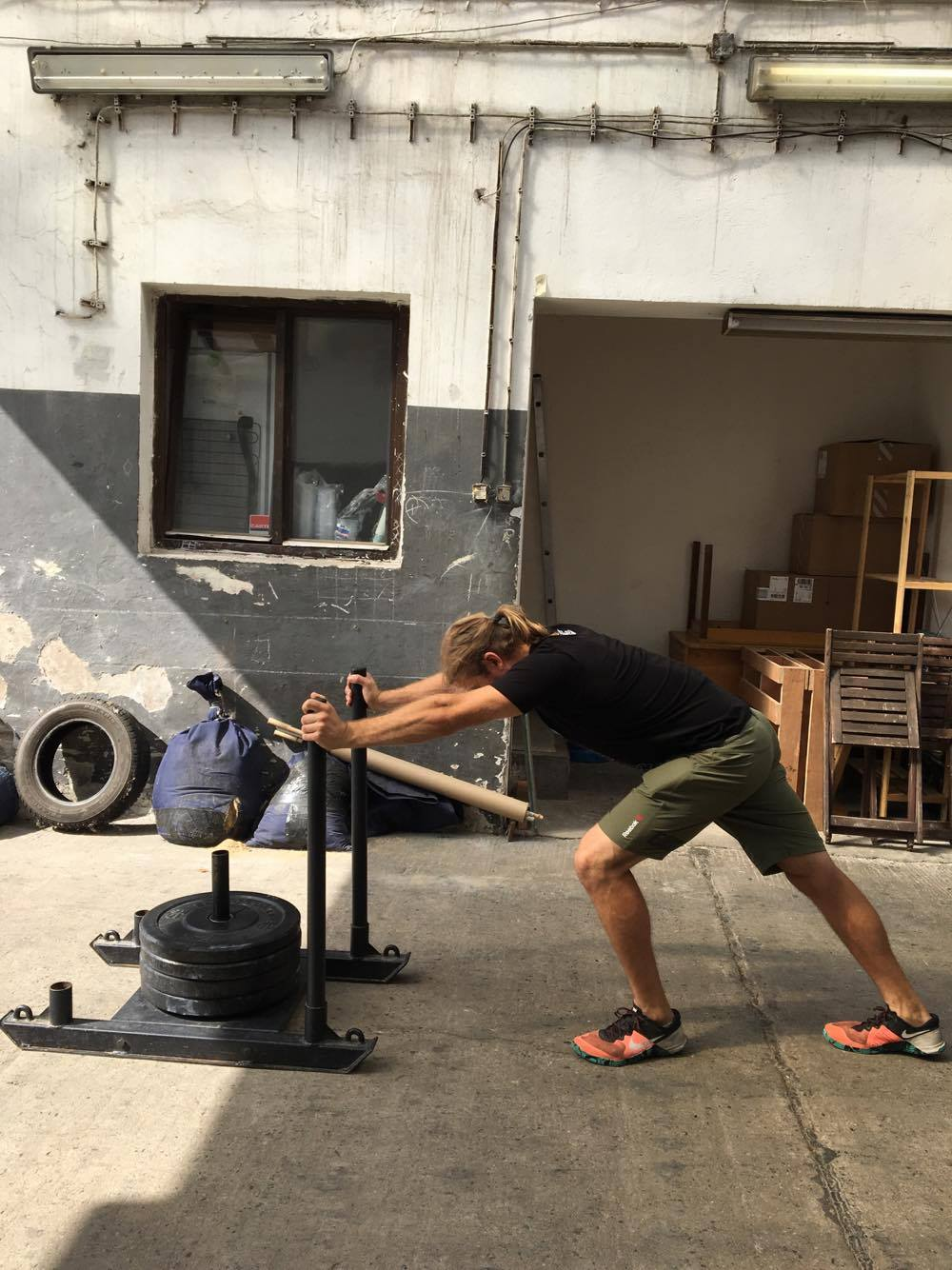 exercising with sleds