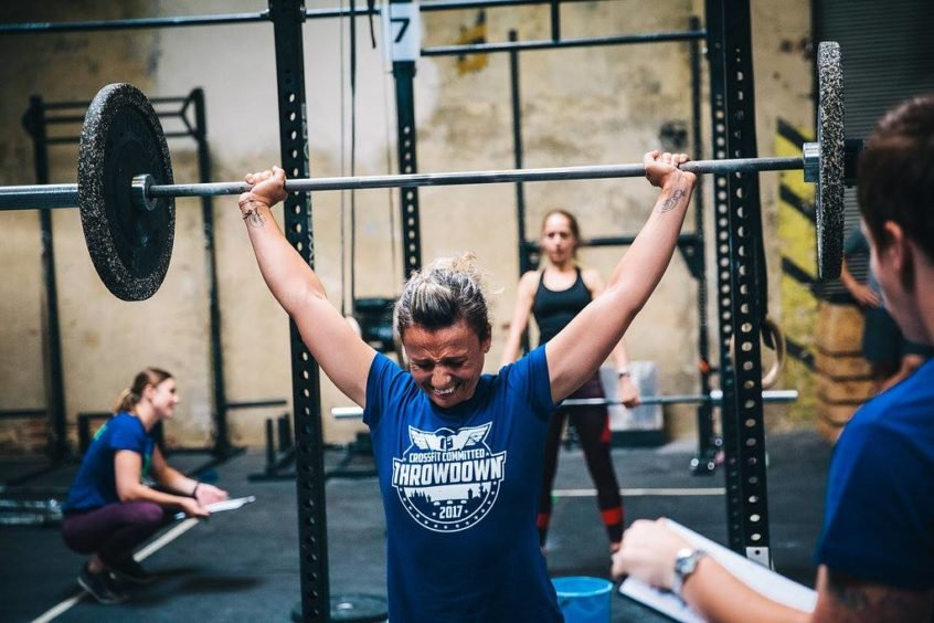 heavy lifting at crossfit committed